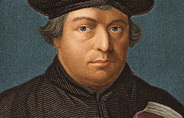 an old painting of martin luther