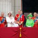 The Royal Family on the balcony of Buckingham Palace during Trooping the Colour in 2016.