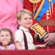 Prince Charlotte and Prince George in 2017