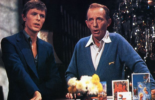 David Bowie: It was definitely a holiday to remember when crooner BingCrosby and rock star David Bowie performed Little Drummer Boy for Crosby'sChristmas special in1977. (Photo by GAB Archive/Redferns)