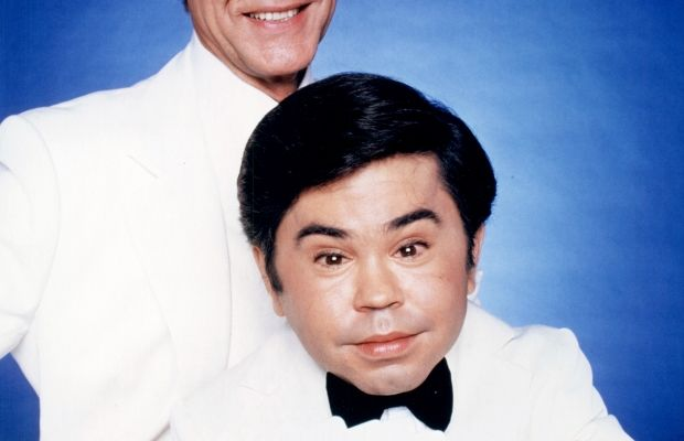 and Herve Villechaize as Mr. Roarke and Tattoo in the American television series 'Fantasy Island.' Circa 1980. (Getty)