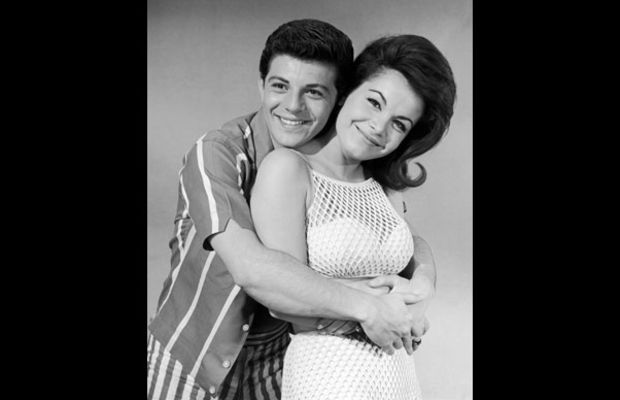 Annette Funicello: After growing up as a Mousketeer, Annette Funicello made a splash on the big screen, co-starring with Frankie Avalon in a series of popular beach party movies. (Photo by Archive Photos/Getty Images