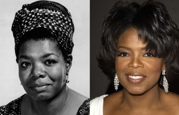 Famous Lookalikes: Maya Angelou - Oprah Winfrey (Images of Maya Angelou and Oprah Winfrey    provided by Getty Images)