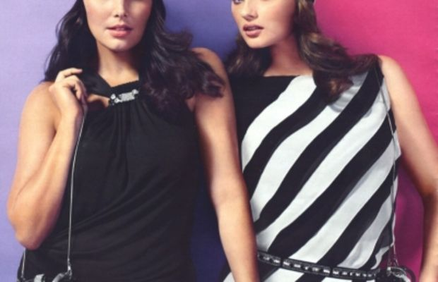 Curvy is confident: Candice Huffine and Jennie Runk in the Marina Rinaldi Spring/Summer 2012 campaign.