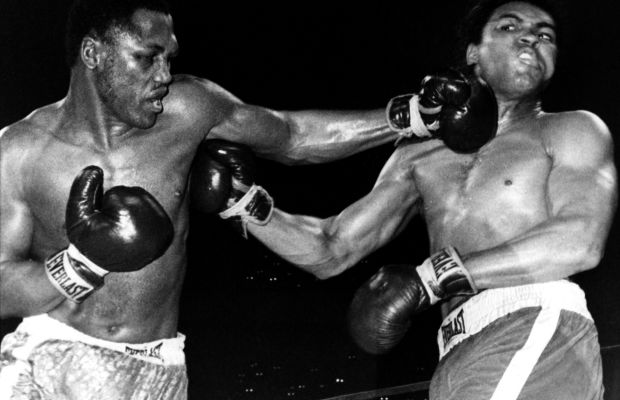 Muhammad Ali: In a much anticipated match known as the 'Fight of the Century,' Muhammad Ali takes on rival Joe Frazier in a clash of the heavyweight titans on March 8, 1971, in New York City, New York.  (Photo by B  Bennett/Getty Images)