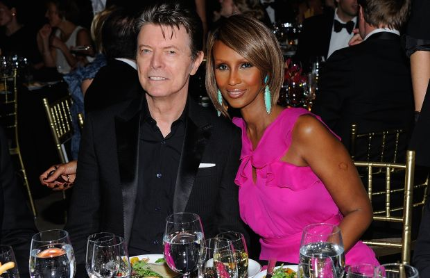 David Bowie: David Bowie and supermodel Iman have been married for 21 years.Iman saysshe didn't fall forBowie's rock star persona,buthis gentlemanly manners,including a time during their courtship when he bentdown totie her shoe laces.(Photo by Andrew H. Walker/Getty Images for DKMS)