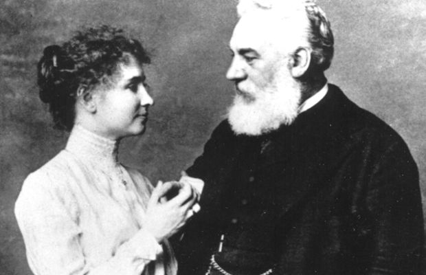 Helen Keller: Alexander Graham Bell spent the 1870s working on hearing devices for the deaf.  Helen Keller's parents reached out to him when Helen was a child, and he in turn contacted the Perkins Institute. The Perkins Institute then sent Anne Sullivan to work with Helen.