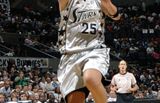 """Big Shot Becky"" on the court for the San Antonio Stars."