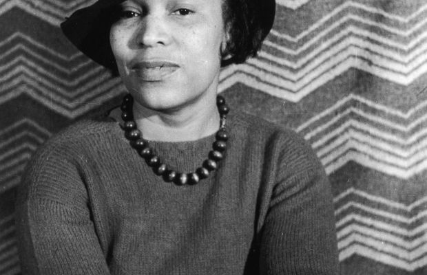 Harlem Renaissance Figures: A leading female writer during the Harlem Renaissance, Zora Neale Hurston wrote pieces that reflected the culture of African-Americans, including specific dialects and actions. (Photo by Fotosearch/Getty Images).