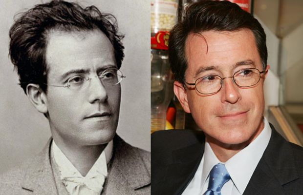 Famous Lookalikes: Gustav Mahler and Stephen Colbert (Images of Gustav Mahler and Steven Colbert provided by Getty Images)