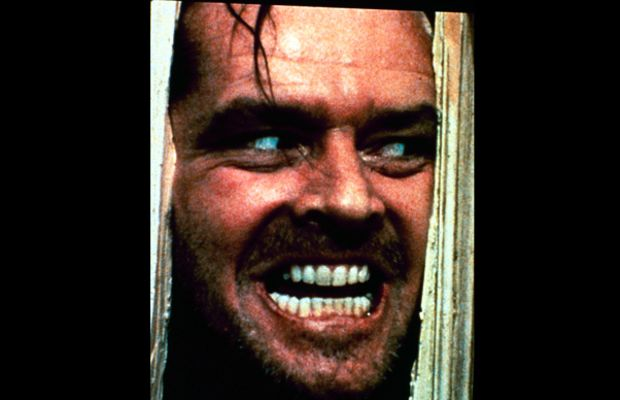 Jack Nicholson Photo Gallery: Heeeere's Johnny! Nicholson taps into his inner psycho in this iconic image of The Shining (1980), directed by Stanley Kubrick.