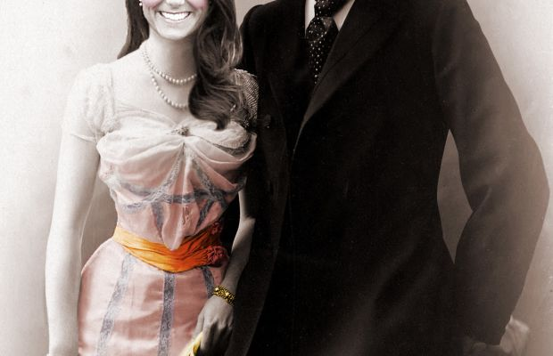 Kate Middleton and Prince William victorian