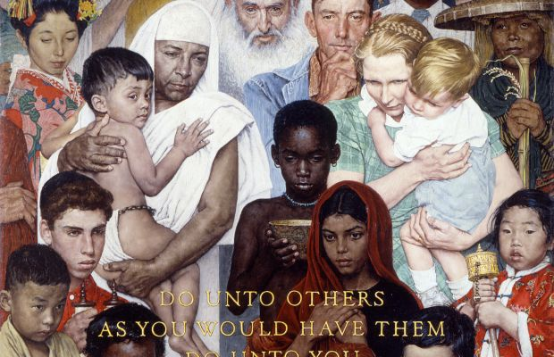 Golden Rule Norman Rockwell Photo