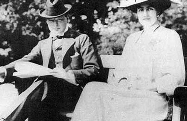 Winston Churchill and his soon to be wife Clementine