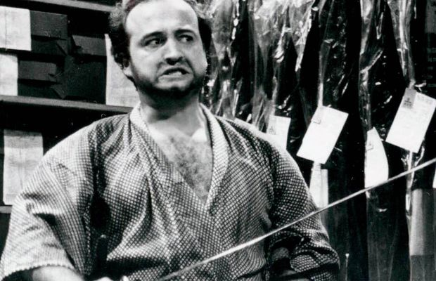 John Belushi as the Samurai, one of SNL's classic characters. (Photo: © NBC/Photofest)