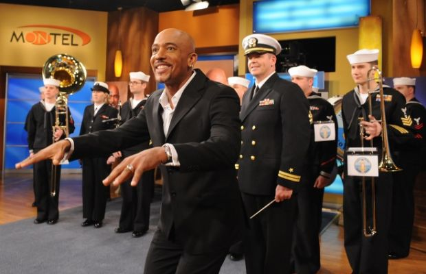 Former Marine Montel Williams gives a shout out to the military on an episode of his talk show.
