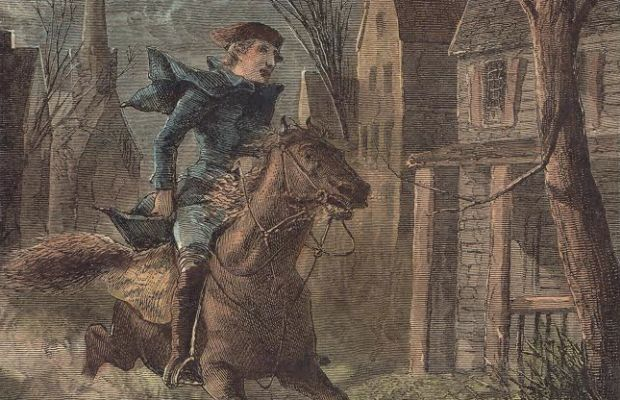 Revere wasn't a lone rider, but a cog —although an important one — in an elaborate warning system set up by the Sons of Liberty to spread an alarm quickly and efficiently. (Image: Courtesy of Paul Revere Memorial Association)