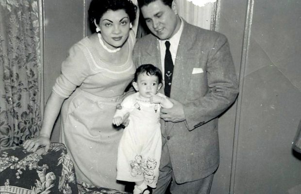 Sotomayor as a little tyke with her parents. (Getty)