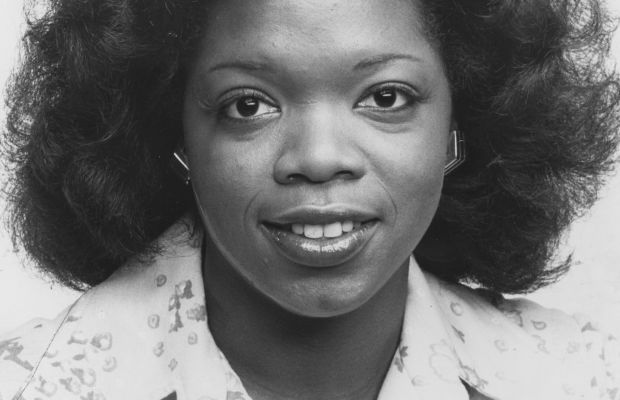 Oprah as newly minted news co-anchor at WJZ in Baltimore, 1978. (Getty)