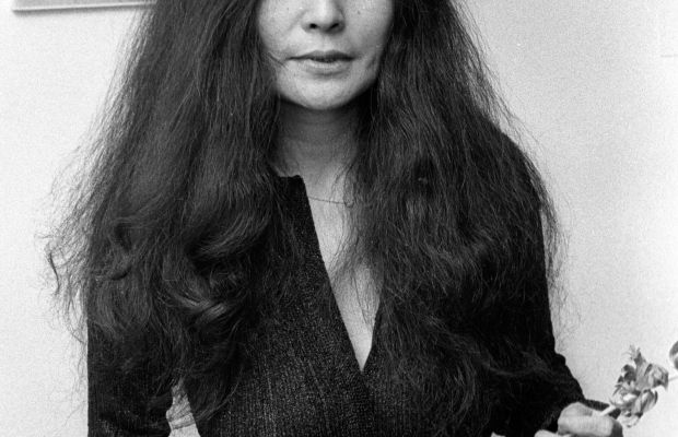 """Yoko Ono attends an exhibit in New York City in 1973, the same year she released the album """"Approximately Infinite Universe."""" More than 35 years later, the song """"Move on Fast"""" from the album is re-released and makes it to No. 1 on the Billboard chart."""