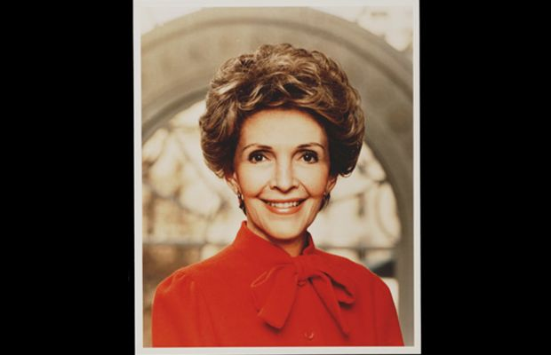 Nancy Reagan: Nancy Reagan poses for her official portrait as first lady of the United States in 1981. Following two terms as governor of California, Ronald Reagan won the 1980 presidential election and was inaugurated on January 20, 1981. (Photo by Stock Montage/Getty Images)