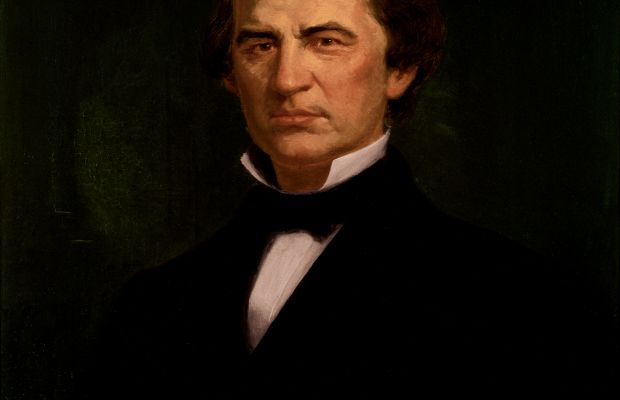 Andrew Johnson Presidential Portrait By Eliphalet Frazer Andrews [Public domain], via Wikimedia Commons