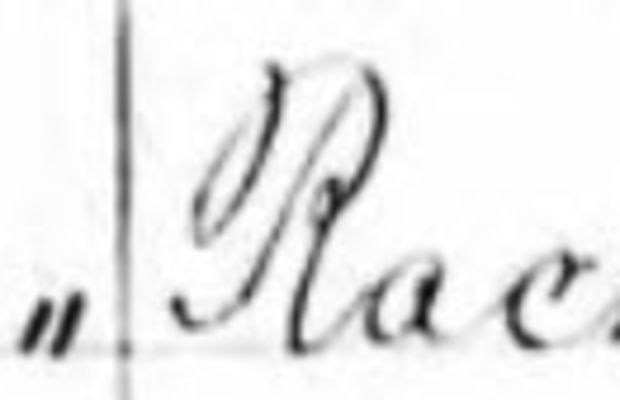 Paul Rever and Rachel Walker Marriage Document Courtesy Ancestry