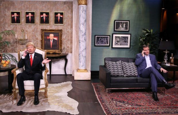 Jimmy Fallon and Ted Cruz on The Tonight Show Photo Courtesy NBC