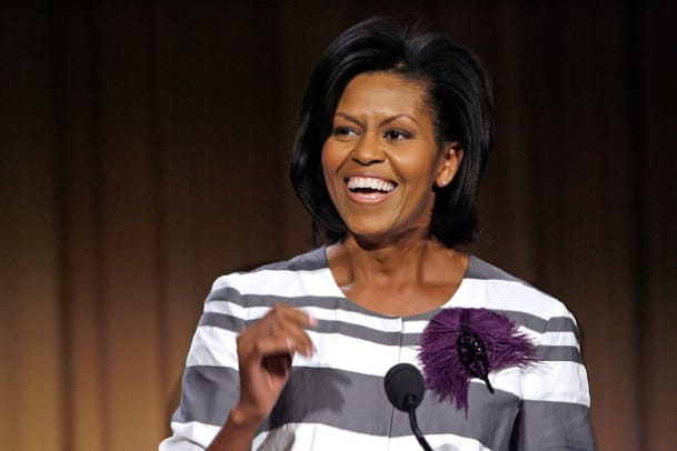 Michelle Obama Speaks At Nat'l Partnership For Women & Families Luncheon