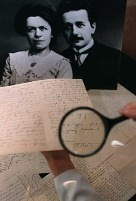 A group letters from Albert Einstein to his first