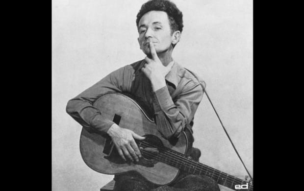 Early 1940s, New York City, Woody Guthrie