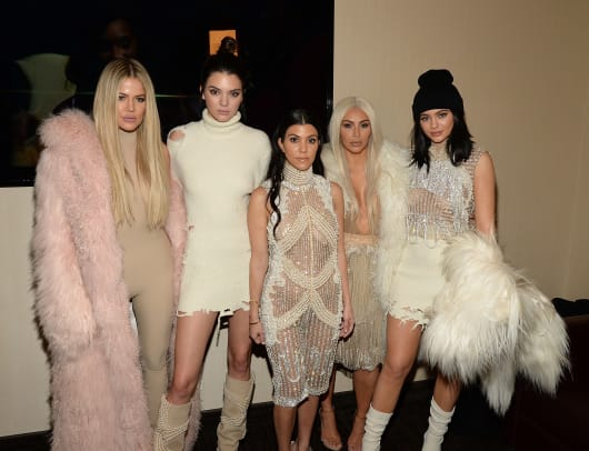 Khloe Kardashian, Kendall Jenner, Kourtney Kardashian, Kim Kardashian West and Kylie Jenner attend Kanye West Yeezy Season 3 at Madison Square Garden on February 11, 2016 in New York City. (Photo by Kevin Mazur:Getty Images for Yeezy Season 3)
