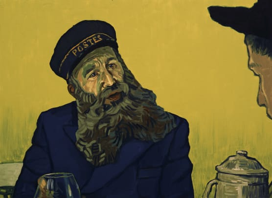 Postman Roulin (Chris O'Dowd) in Loving Vincent