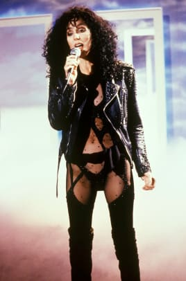 Cher performs live on stage in October 1987. (Photo by Martina Raddatz:Redferns)