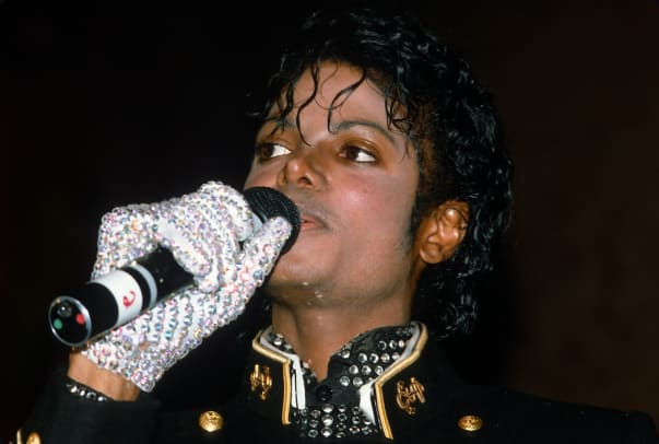 1_February 7, 1984 at the New York Metropolitan Museum of Natural History in New York City. This event is taking place 11 days after he suffered hair and scalp burns filming a Pepsi Cola commercial. (Photo by Yvonne Hemsey:Getty Images)