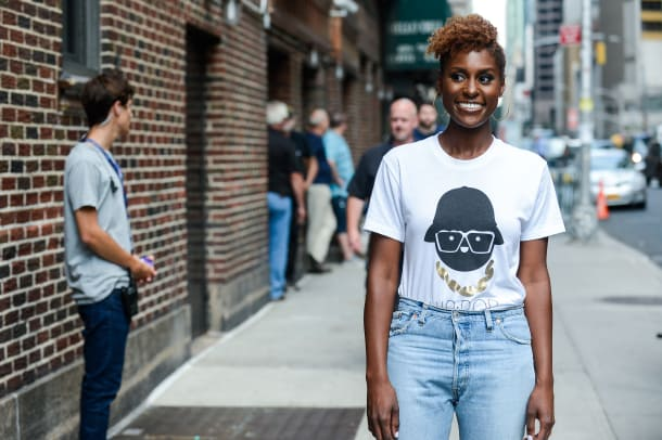 Issa Rae enters the 'The Late Show With Stephen Colbert' taping at the Ed Sullivan Theater on July 17, 2017 in New York City. (Photo by Ray Tamarra:GC Images)