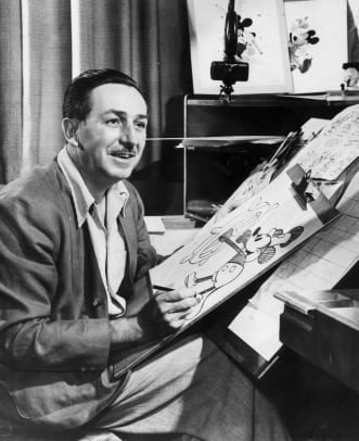 Disney Drawing Mickey (Photo by Hulton Archive:Getty Images)