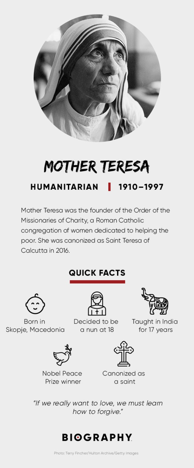 Mother Teresa - Quotes, Death & Awards - Biography