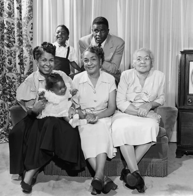 Image result for jackie robinson and family