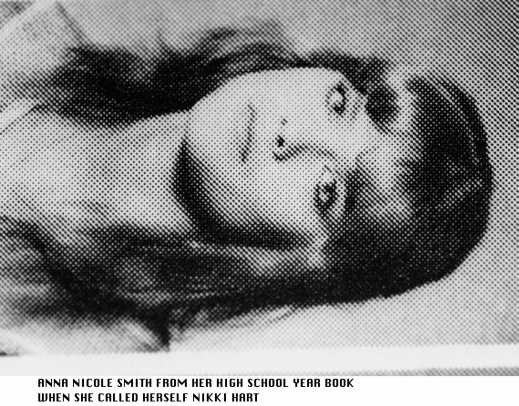Mexia Texas Anna Nicole Smith High School Year Book Photo 1984 The Year She Dropped Out