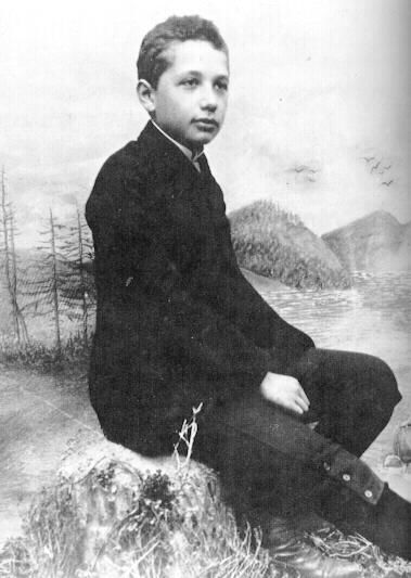 Albert Einstein: As a child Einstein was slow in learning to speak and a poor student, but sought inspiration from playing classical music on the violin and developed a fascination with the science behind a compass.