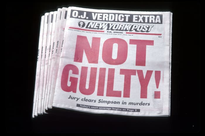 O.J. Simpson Murder Case: A Timeline of the 'Trial of the ... Oj Simpson Not Guilty Verdict Date
