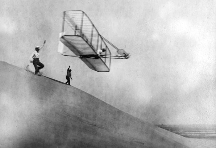 The Wright Brothers in Kitty Hawk, North Carolina, 1901