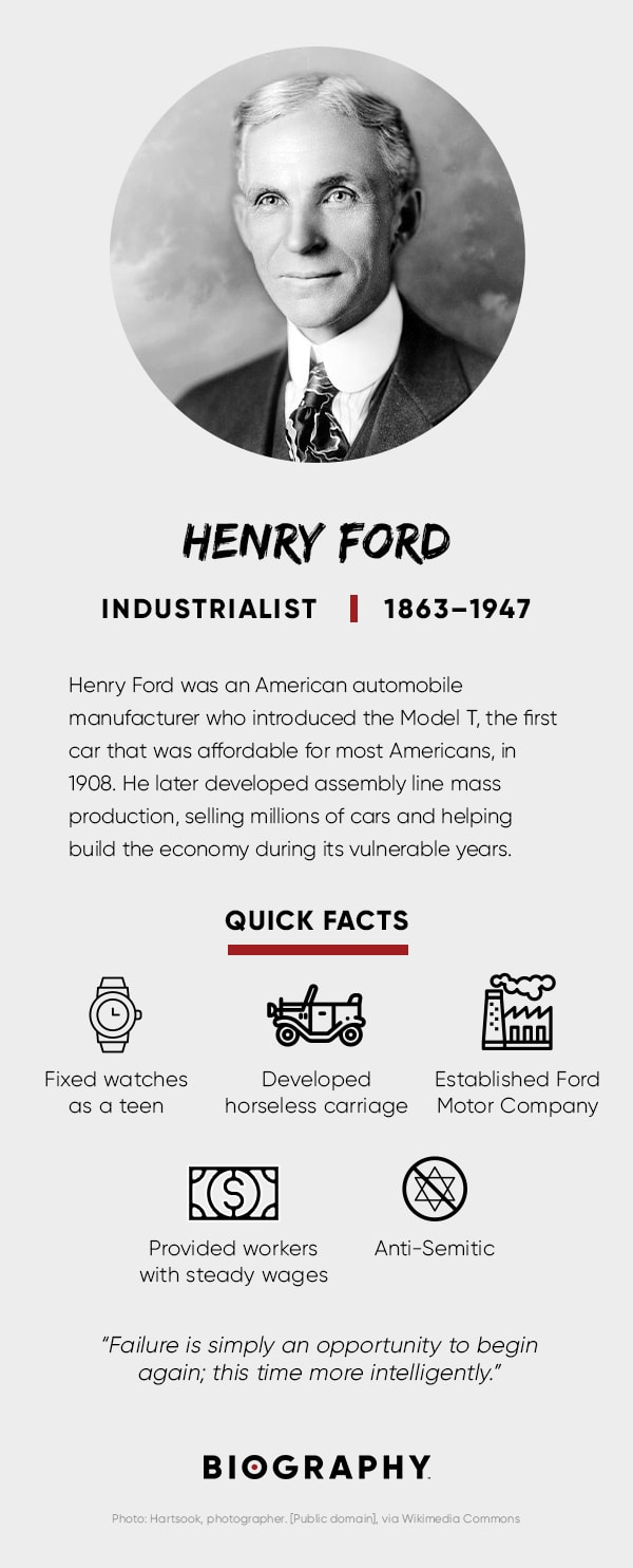 Henry Ford Quotes Assembly Line Amp Inventions Biography border=