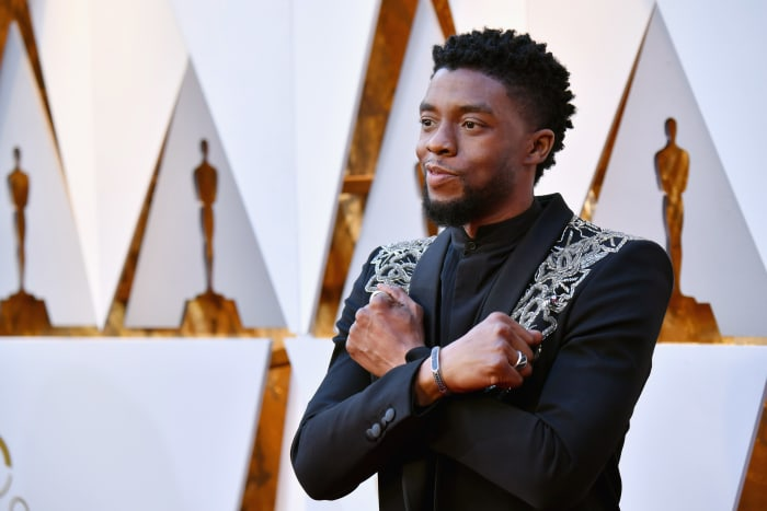 Chadwick Boseman at the 90th Annual Academy Awards at Hollywood & Highland Center in Hollywood, California on March 4, 2018