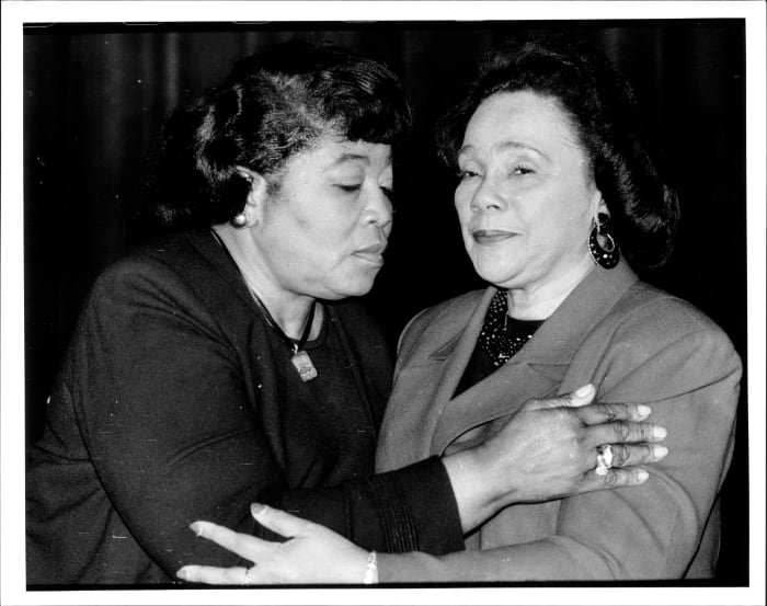 Betty Shabazz (left) and Coretta Scott King, January 31, 1994