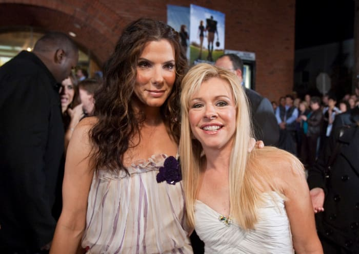 Sandra Bullock with Leigh Anne Tuohy at