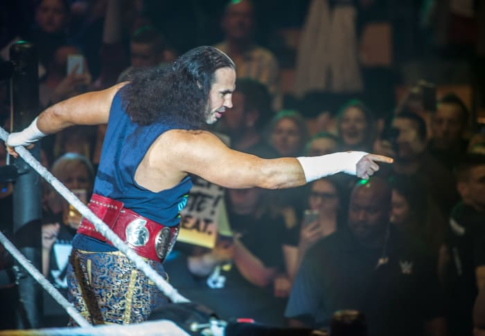 Matt Hardy during a WWE show at Zenith Arena in Lille, France on May 10, 2017