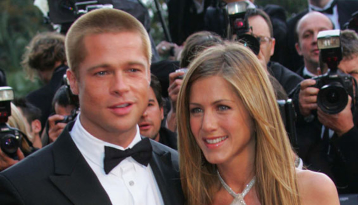 Celebrity Couples: Now a blockbuster movie star, Brad Pitt met TV's most popular friend in 1998. Quickly becoming Hollywood's favorite couple, Brad and Jennifer Aniston wed in July 2000. They divorced in 2005 amidst speculation of Pitt's rumored affair with Angelina Jolie. (Photo: Getty Images)