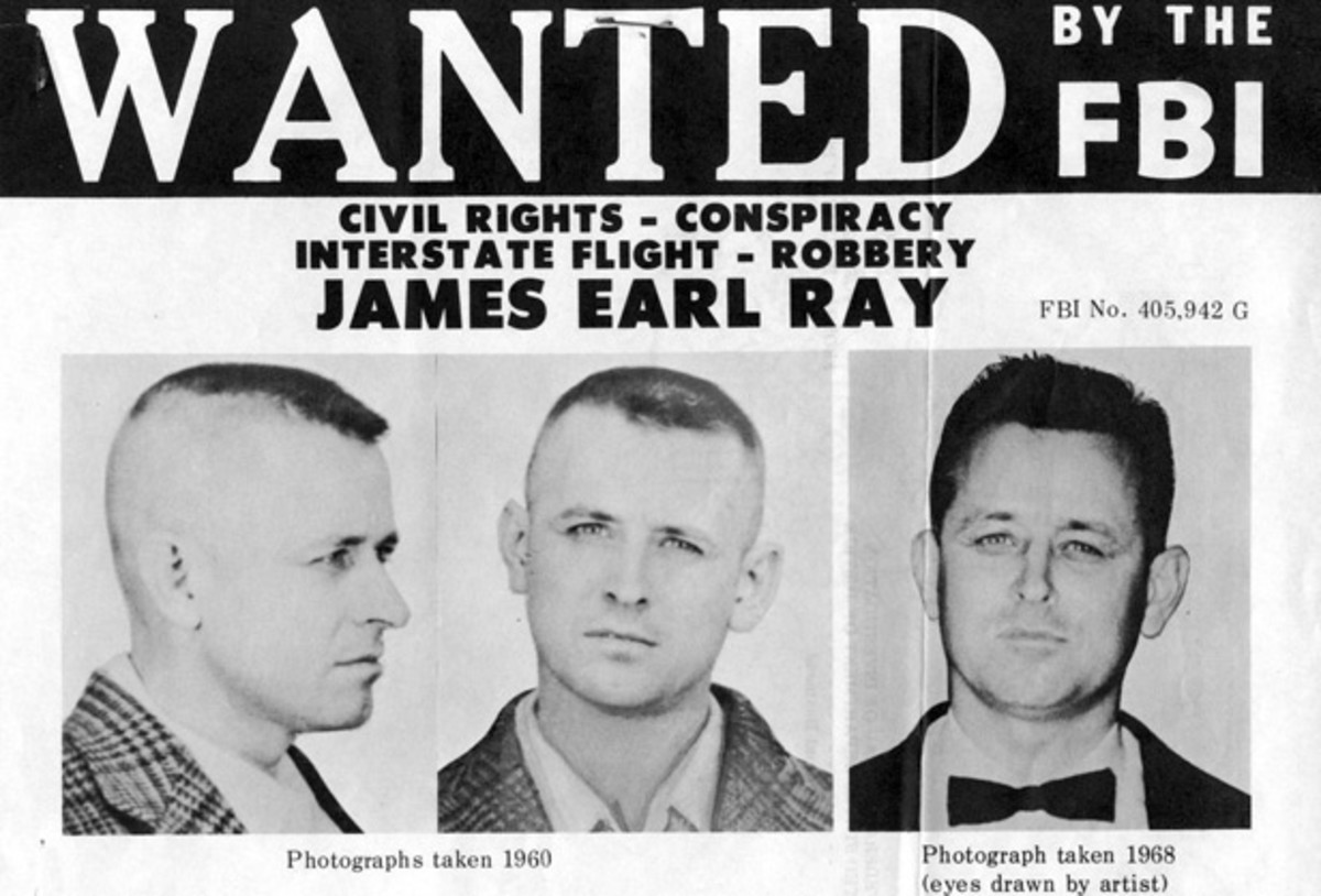 Assassins: James Earl Ray was convicted of assassinating Martin Luther King, Jr. on April 4, 1968. Ray pleaded guilty and was sentenced to 99 years in prison, but later recanted his confession and said he'd been framed. The King family came to believe he had nothing to do with the assassination.